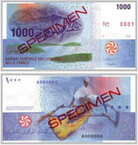 billet de 1000 francs en circulation